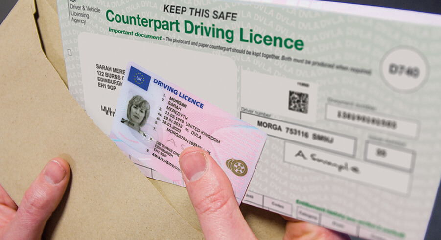 changes in driving license large